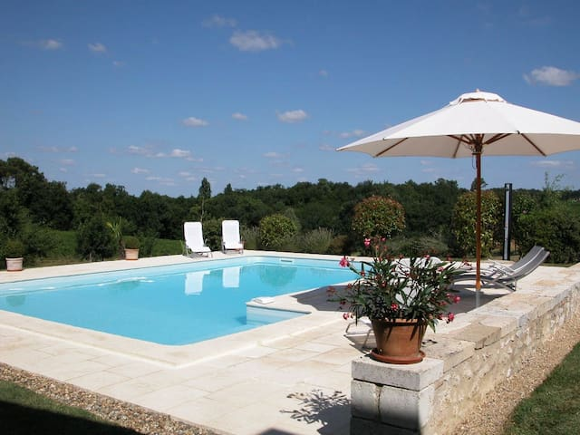 Gite with pool among the vines - Pellegrue - Casa