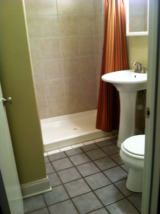Your private bathroom, complete with amenities