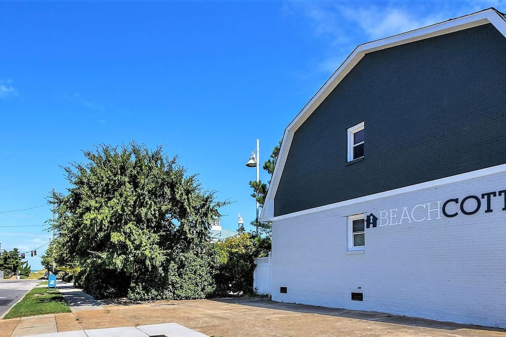 The Beach Cottage is Situated One Block from the Beautiful Ocean View Beach
