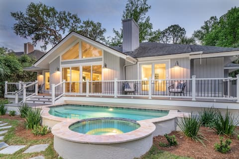 Lovely 3BR in Palmetto Dunes w/ new pool & spa