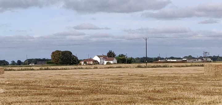 Detached holiday cottage with countryside views