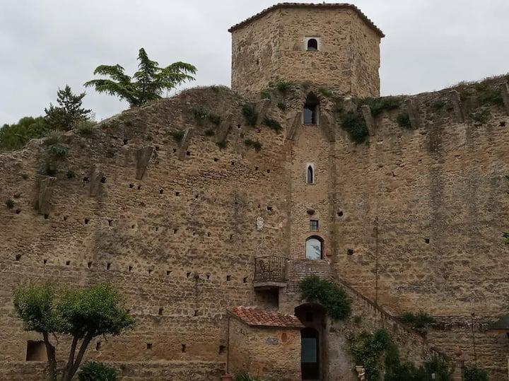 Medieval tower around Siena