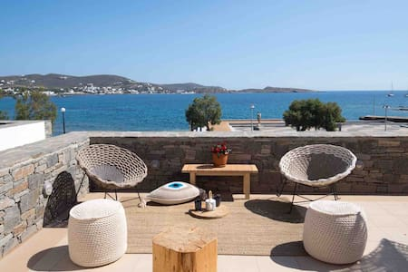 Modern Design Suite Facing the Sea in the Cyclades