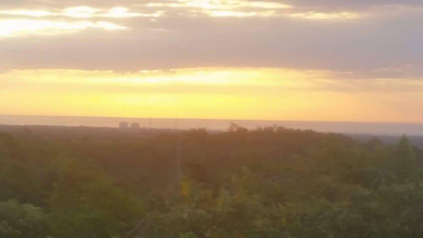 Seaview with sunrise