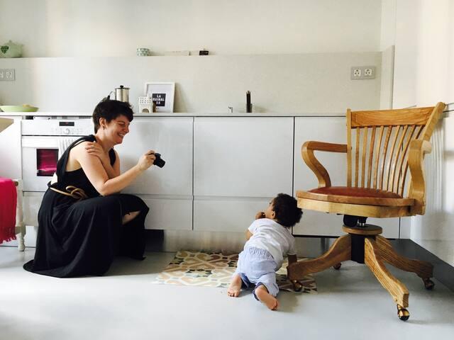 Fotoshing en La Cocina. Los bebés y las cámaras !