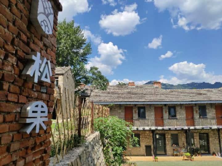 设计师的家,坐落在泰山山谷里的独栋小楼,带一个超大超美的私家花园,离市区只有十五分钟