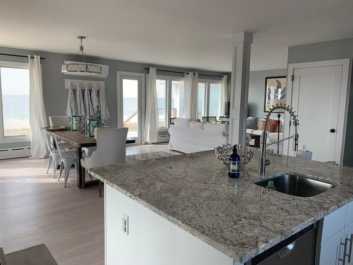 Sandy beachfront home in Southold