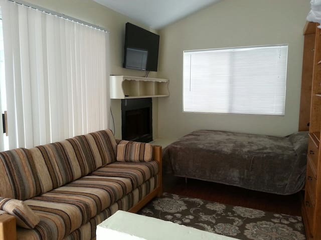 Sleeper sofa in upstairs Master Suite can be made into a double bed
