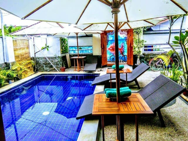 whitebamboo resort in gili -- DOUBLE BED ROOM