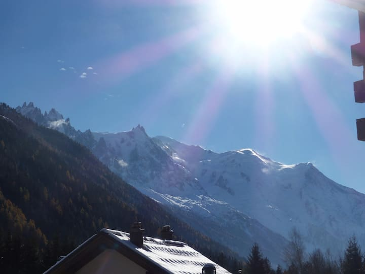 Ski Grands-Montets - Amenities and view Mont-Blanc