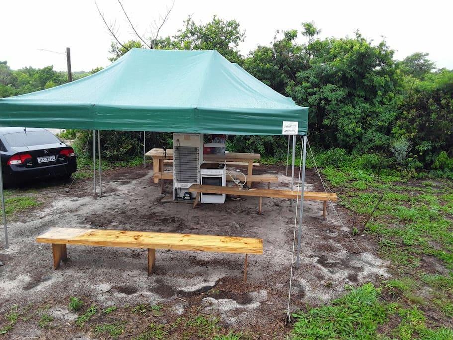 estrutura para uso no camping