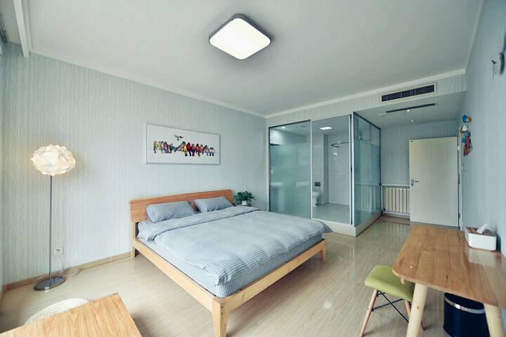 花栖·莫桑  栖息在花丛中的清新醉氧大床房 - Qingdao - Bed & Breakfast