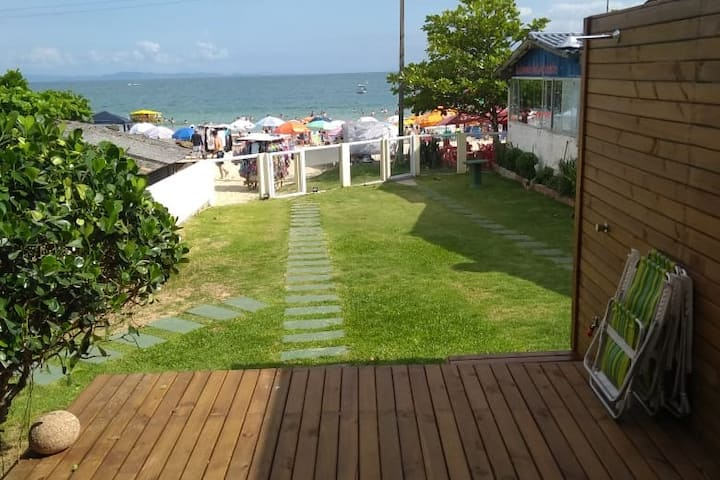 Beach-front house, 2 rooms, Lagoinha do Norte