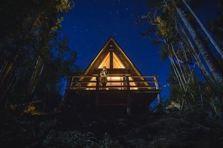 Puente Palos, cabaña en medio del bosque