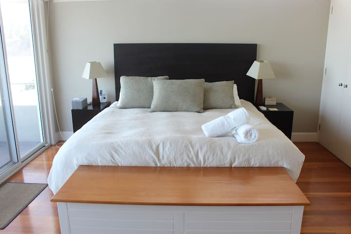 Azure's large master bedroom comes with a private balcony and ensuite.