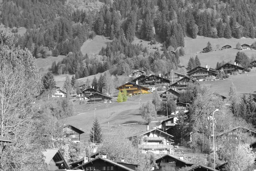 Vue depuis le village