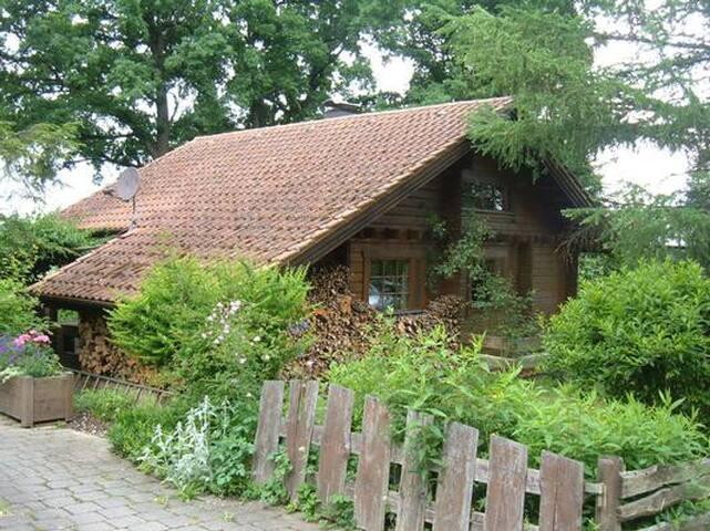 Urgemütliches Holzblockhaus