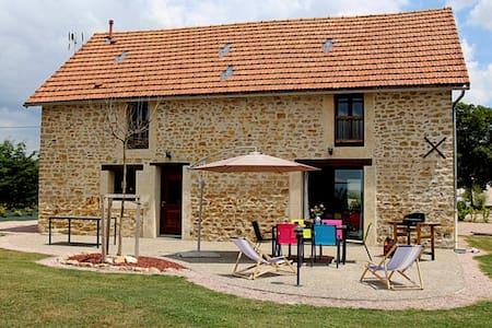 Grande maison authentique et moderne à la campagne - Lucenay-lès-Aix - Rumah
