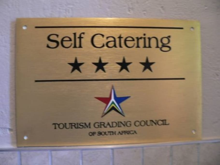 4 Star grading awarded by South African Tourism Grading Council