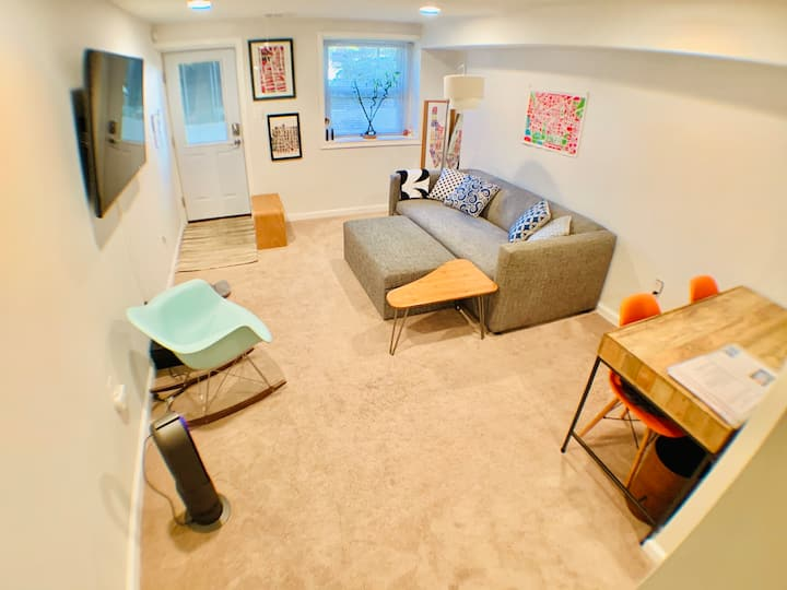 DC Top-rated 1BR Basement  w/ Laundry Near Metro