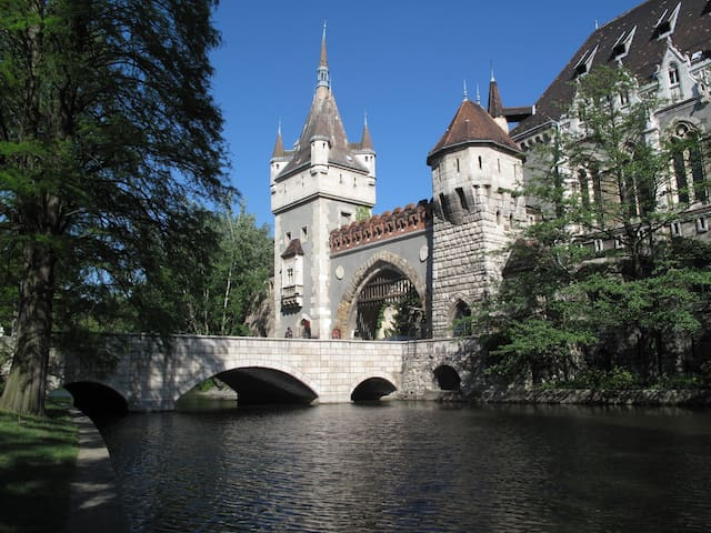 Vajdahunyad Castle in the City park(10 -15 minutes walk from the flat)