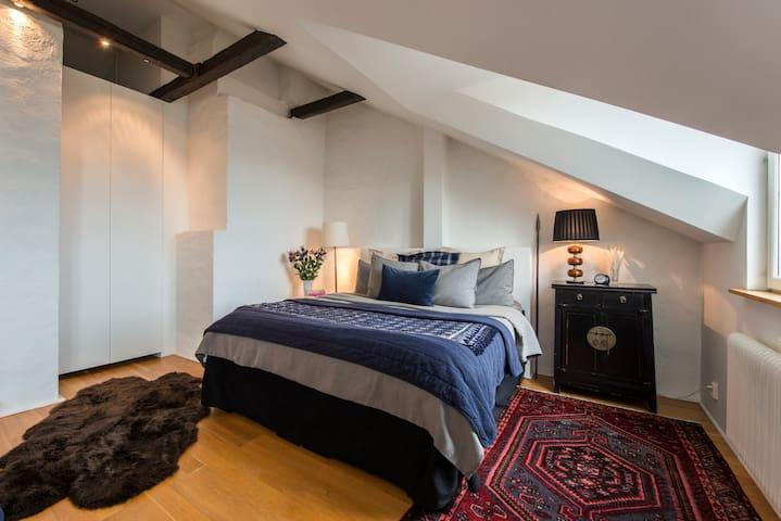 Sunny top floor duplex apartment in Stockholm