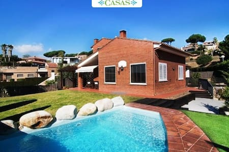 Seaside 3-bedroom villa in Caldes Estrach, only 1,000m to the beach - Barcelona Region - 別荘