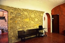 Aufgang zu den Gästezimmern