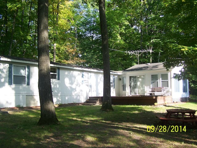 NICE WOODED SETTING ON MULLETT LAKE - Indian River - House