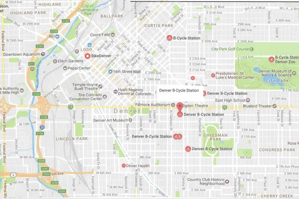 Partial Map of B-Cycle Stations; Always Subject to Change