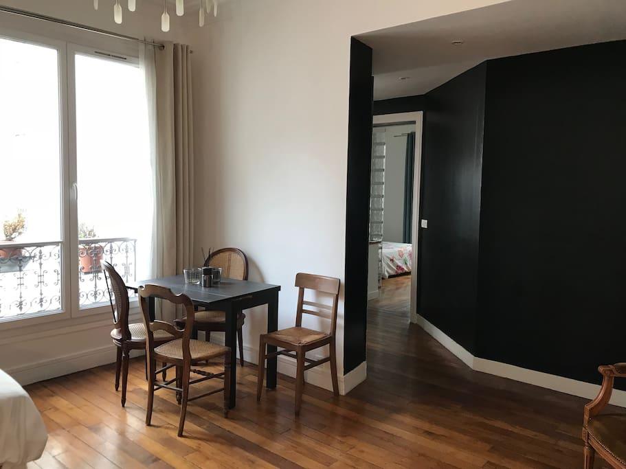 Living-room, table area, big windows