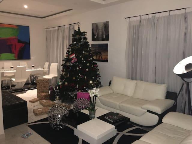 Living room Christmas time