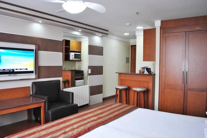 Flat em Hotel 4**** Ed Alpenhaus Gramado-4 pessoas