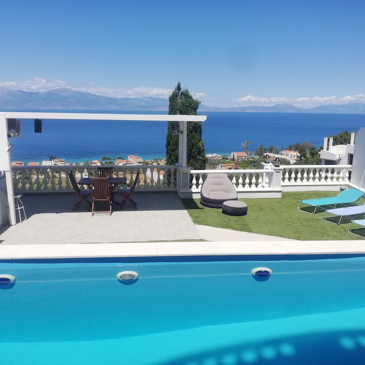 Melissi luxury villa with pool and Sea View