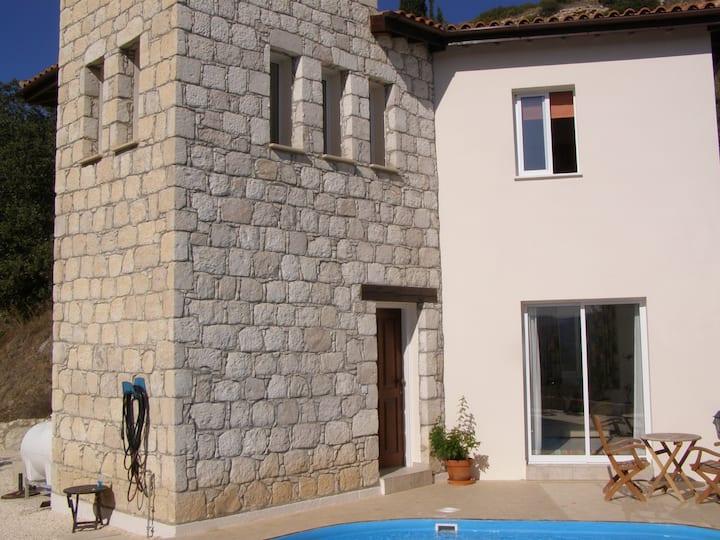 2 bedroom villa in a traditional Cypriot village.