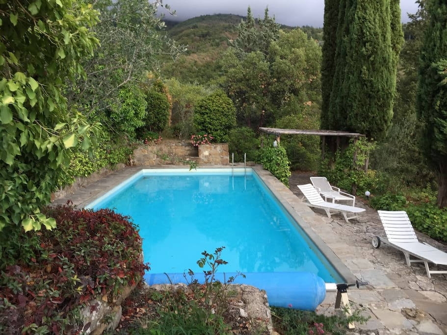 Pool, CasaMacchia Holiday House Florence, Tuscany Casa Willy Fleckhaus
