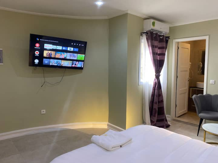 Chambre Deluxe Queen,Makepe Vallée happy Sport