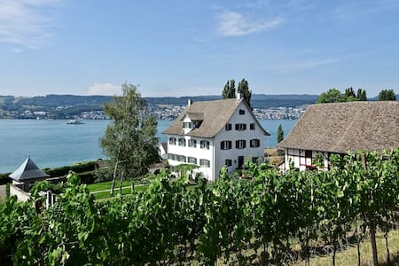 Baroque country estate on the lake of Zurich