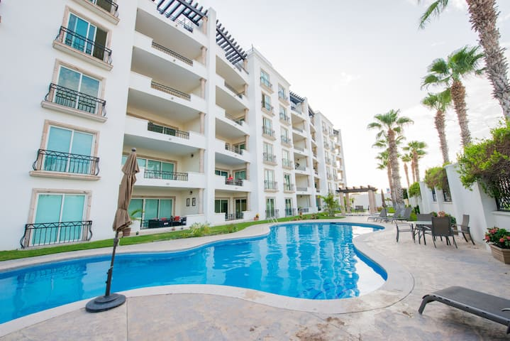 Puerta Cabo Village - Private 5th Floor End Unit Wrap Around Balcony with Ocean and Mountain Views !