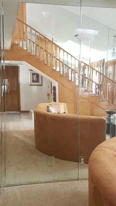 Stairs leading to master suite