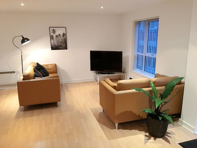 Double room + bathroom in lovely city centre apt