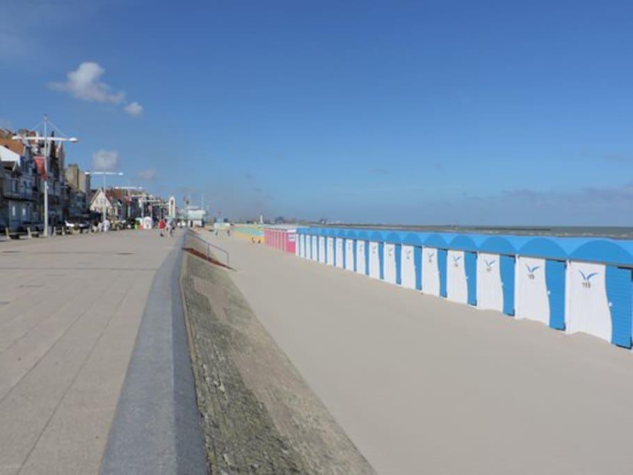 la plage de Malo-les-bains