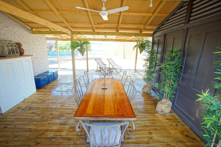 Al fresco dining area. Complete with BBQ. Enjoy your breakfast, lunch and dinner here!