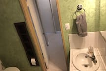 Bathroom has been refurbished