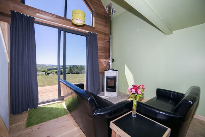 Pellet Boiler and Lounge Area