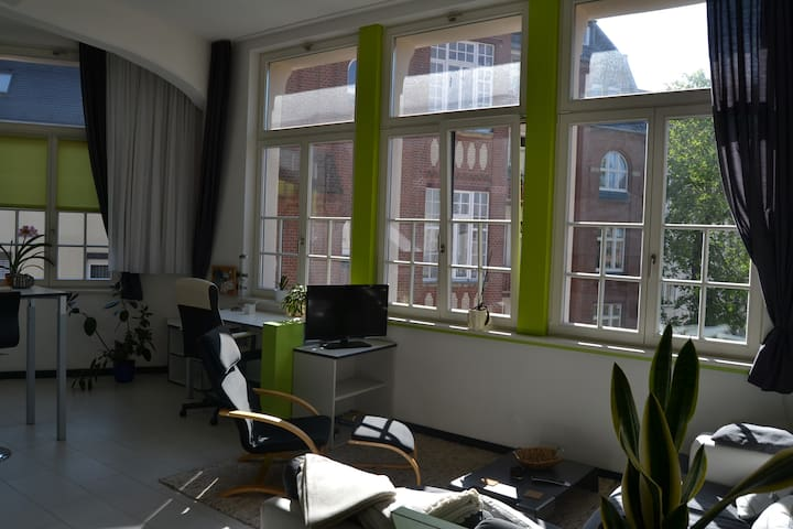 loft charme mit rundumblick wohnungen zur miete in leipzig sachsen deutschland. Black Bedroom Furniture Sets. Home Design Ideas