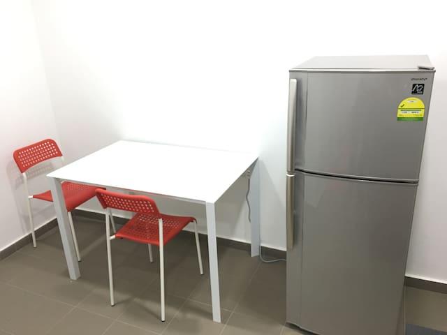 Fridge n Coffee Table in the pantry area