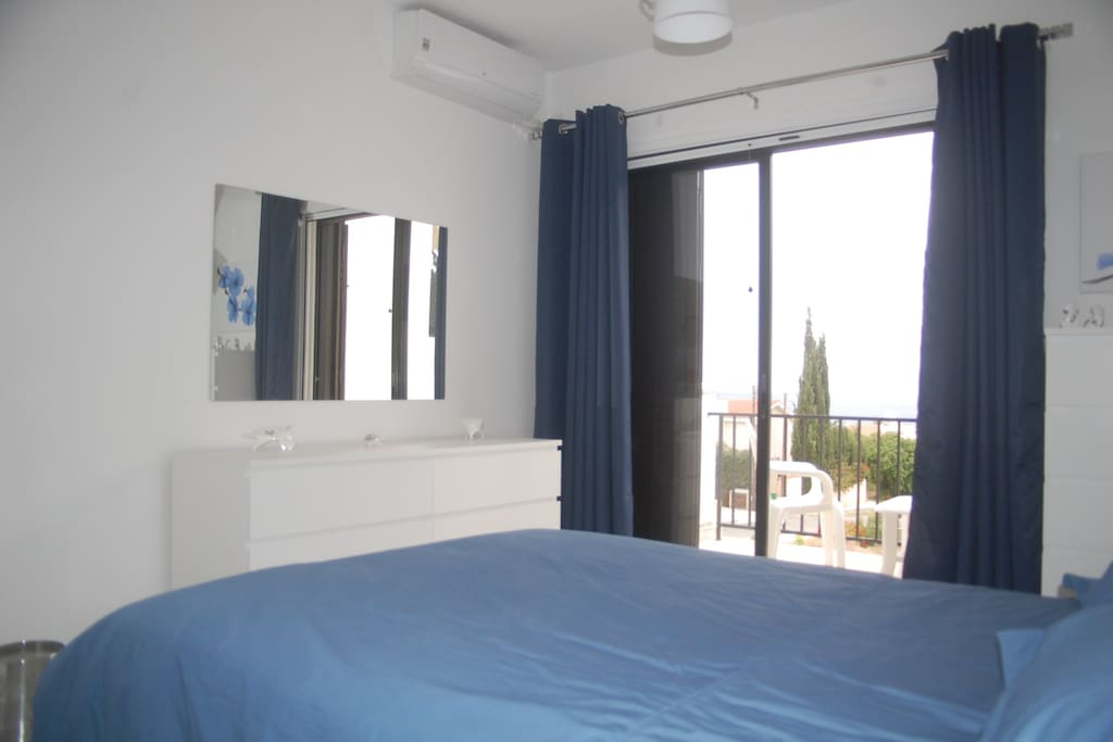 Enjoy the amazing Paphos views from your bedroom.