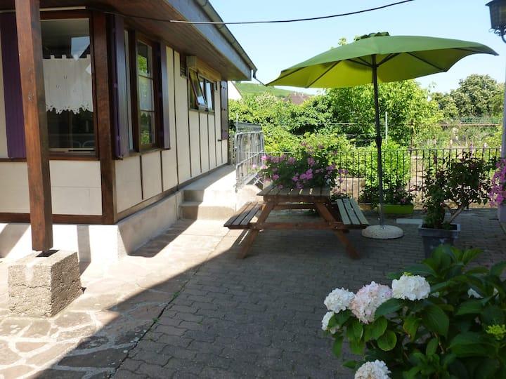 maison de plain pied avec jardin