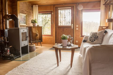 Maison  confortable en bois- Cabine confortable en bois